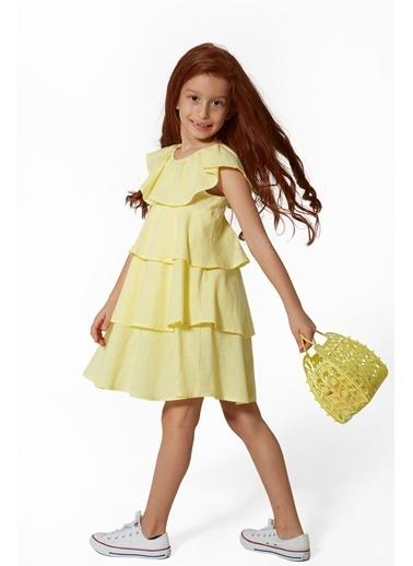 Colorinas Tulip Elbise Sarı Sarı